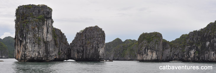 Lan Ha Bay - Ha Long Bay - Bai Tu Long Bay (2 days/1 night )